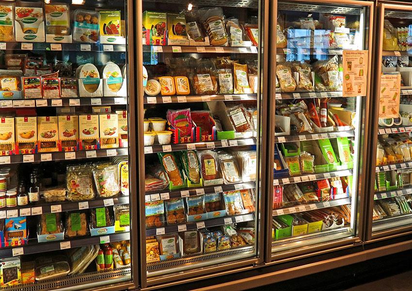 Armarios congeladores con comida