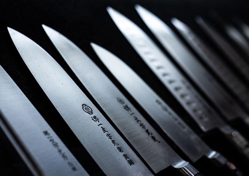 Distintos tipos de cuchillos de cocina