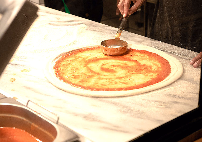 Mesas de pizzas