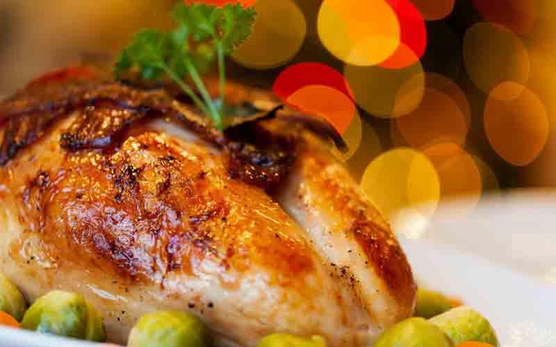 Pollo cocido en asador