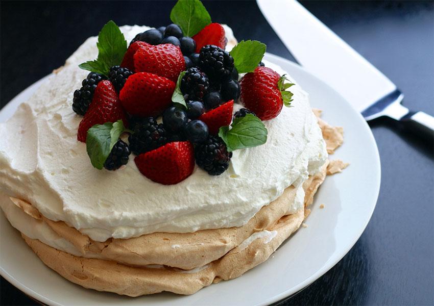 Tarta pavlova receta
