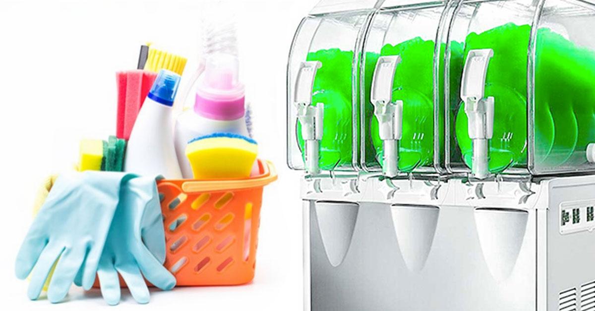 Cómo limpiar una granizadora para hostelería