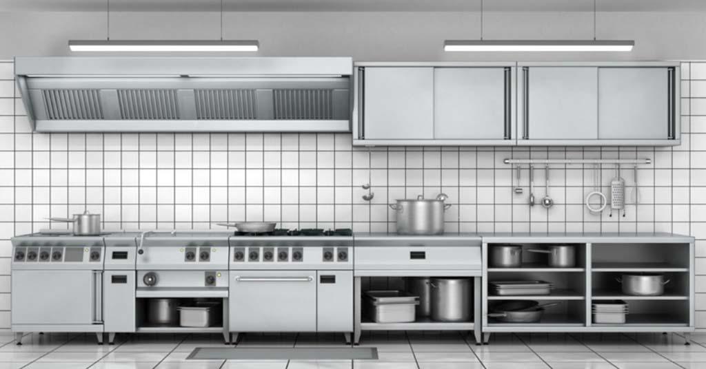 acero inoxidable y el mobiliario de cocina